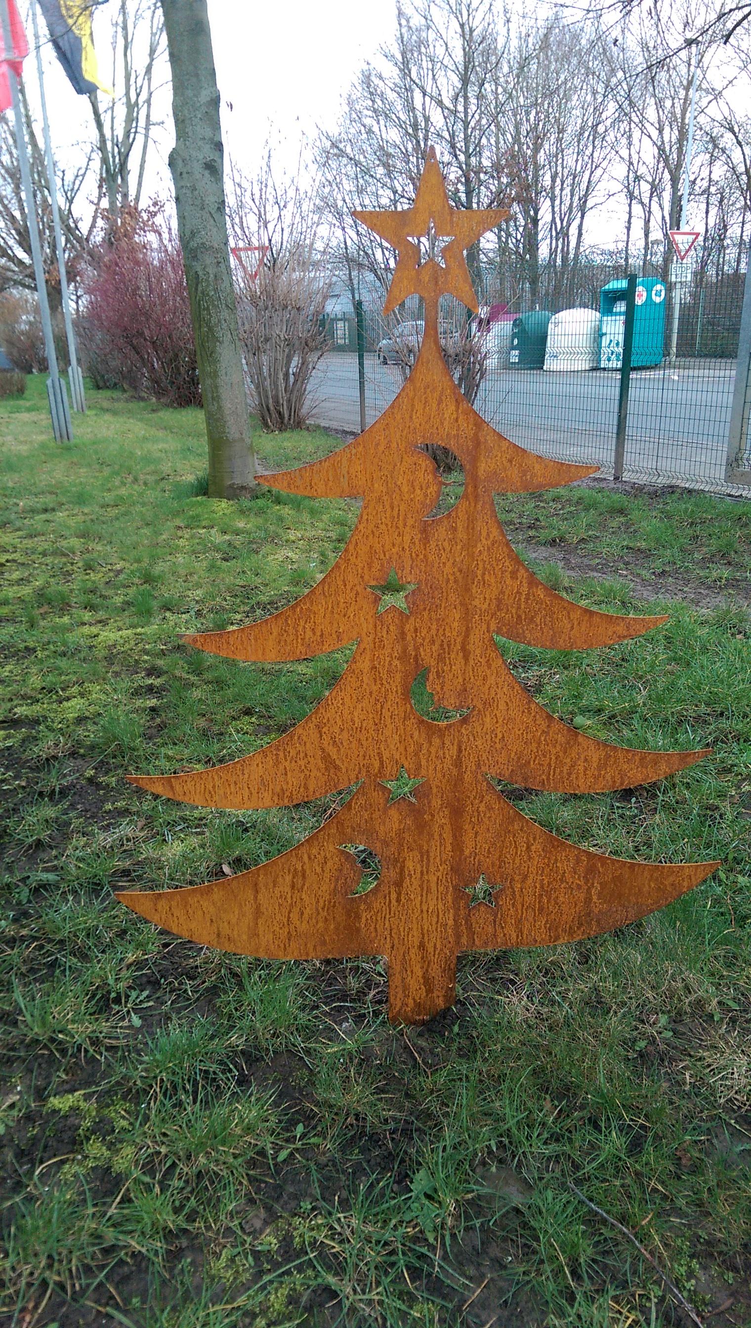 Tannenbaum Edelrost.Tannenbaum 120cm Tanne Weihnachtsbaum Christbaum Zum Dekorieren Rost Edelrost