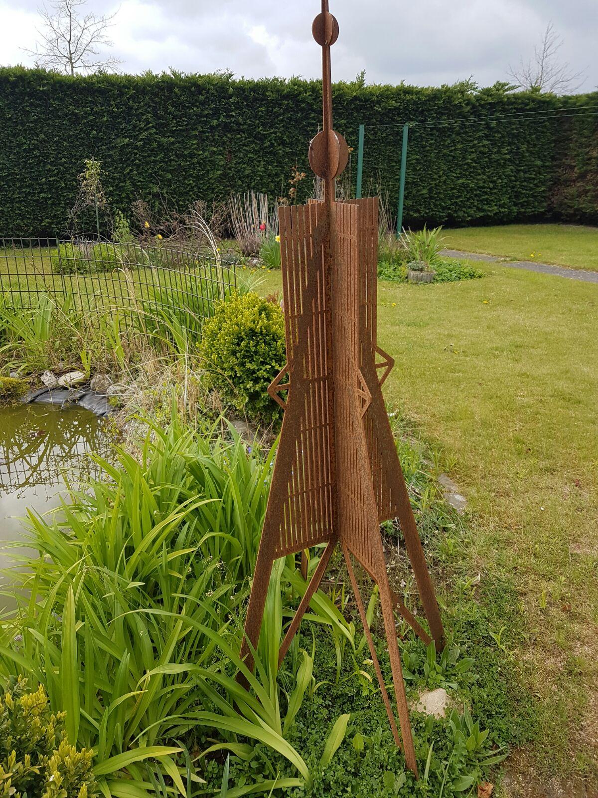 Hinken Design Kugelbake 150cm Gartenskulptur Gartenfigur