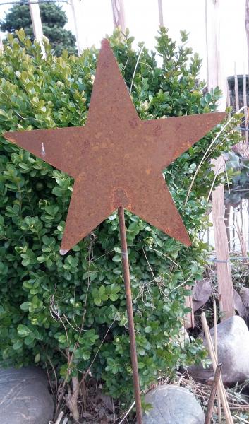 Hinken design gartenstecker sterne rost edelrost metall for Rostfiguren weihnachten